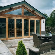 bifold wooden doors - joinery northwest