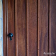 solid wood front door - joinery northwest
